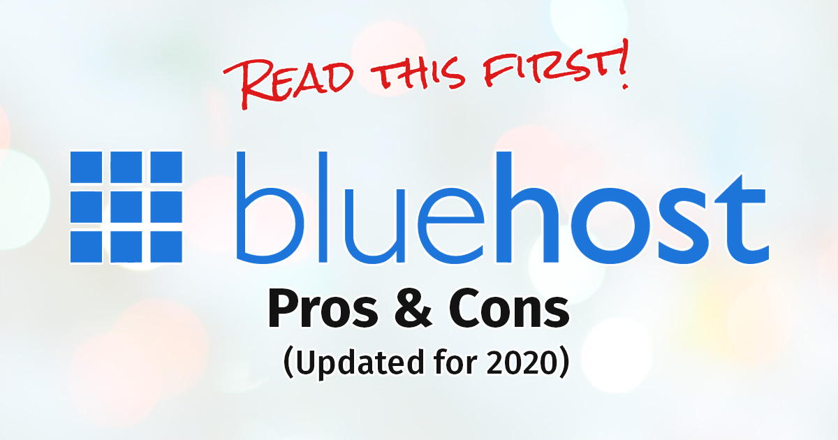 Bluehost Hosting Review (updated 2020)