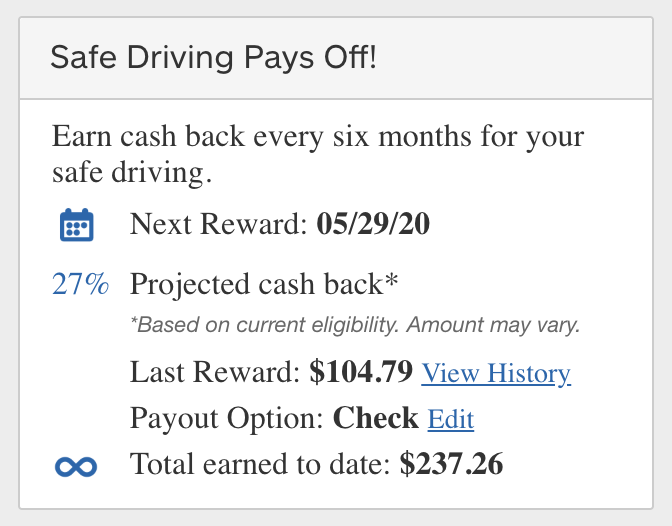 Cashback from Allstate Drivewise