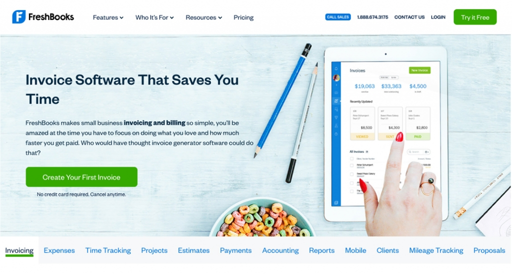 Freshbook's software has built in invoicing and billing capabilities