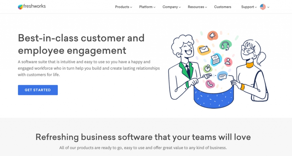 Freshworks helps with customer and employee engagement