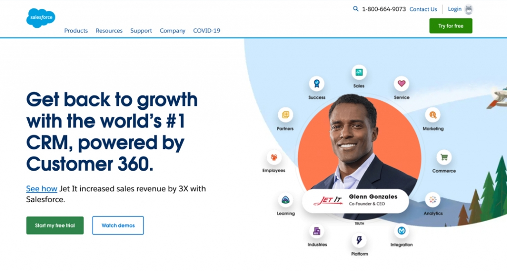Salesforce is geared towards large enterprises