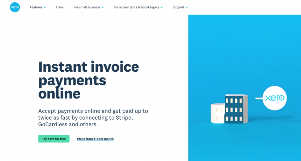 Xero integrates with Stripe and others