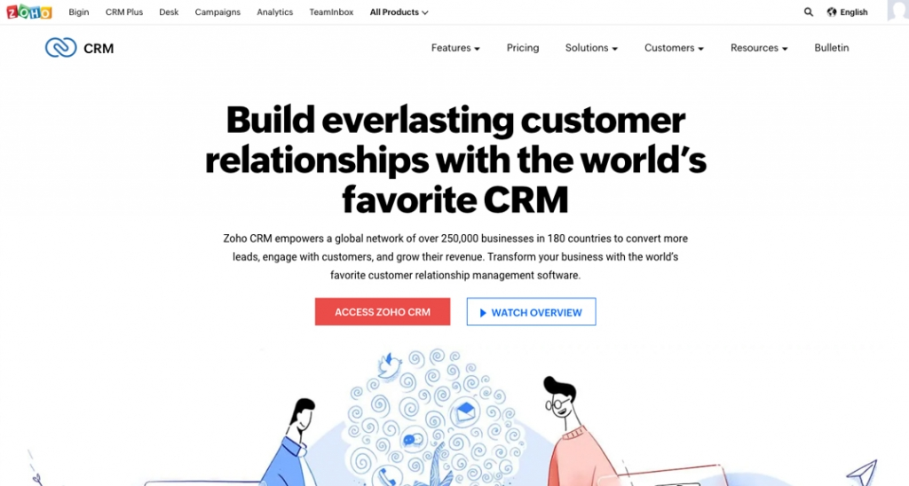 Zoho's suite of software includes CRM